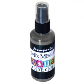 STAMPERIA-AQUACOLOR SPRAY 60ml GRAFIT