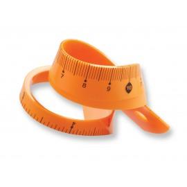 LINIJKA 20cm.-pomarańcz.TETIS