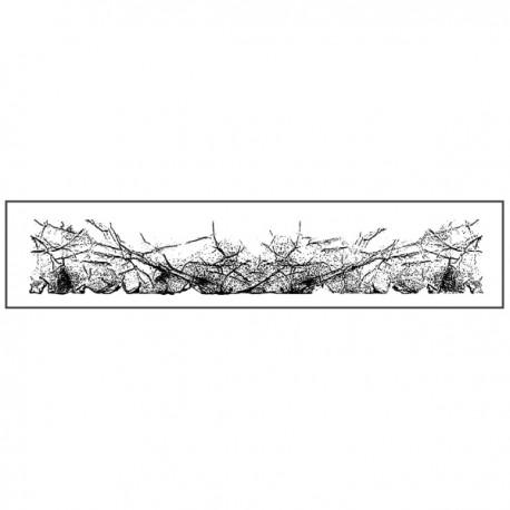 STAMPERIA-STEMPEL KAUCZUKOWY 4x18 cm EFEKT ZAGNIECEŃ BORDER