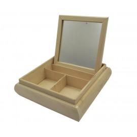 TOALETKA DREWNIANA kwadrat 20x20x5cm (TR325)