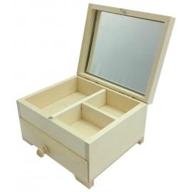 TOALETKA DREW kwadratowa z lustrem i szufladką TR326