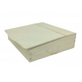SEKRETARZYK DREWNIANY 27x27.5x7.8cm (AB290)