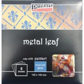 PENTART-FOLIA MELANŻ 1 14x14cm 5 ARKUSZY