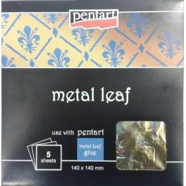 PENTART-FOLIA MELANŻ 2 14x14cm 5 ARKUSZY