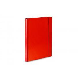 TECZKA SKRZYDŁOWA Z GUMKĄ A4 czerwona VauPe 310/01