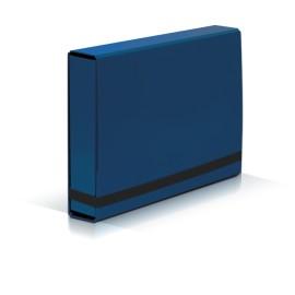 TECZKA Z GUMKĄ A4 BOX CARIBIC niebieska VauPe