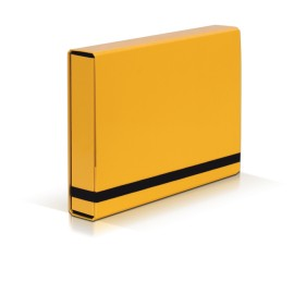 TECZKA Z GUMKĄ A4 BOX CARIBIC jasnożółta VauPe