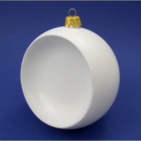 PLASTIK-BOMBKA WKLĘSŁA 120mm +ZAWIESZKA