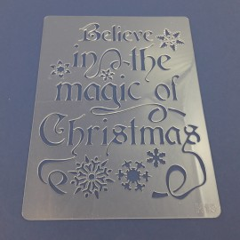 PENTART-SZABLON BELIEVE IN THE MAGIC OF CHRISTMAS