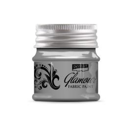 PENTART-FARBA DO TKANIN 50 ml GLAMOUR SREBRO