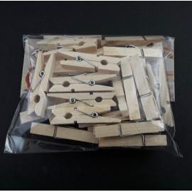 PENTA-KLAMERKI DREWNIANE 30szt 4,5x0,7cm