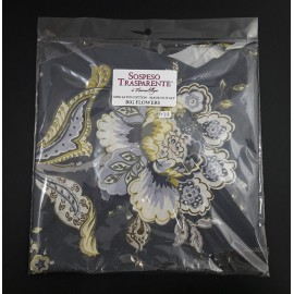 SOSPESO-TKANINA SZARA FANTAZJA BIG FLOWER 1m