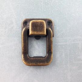 SZTUKA-METAL 4szt ZAMKNIĘCIE 3,5x2,5cm KLAMRA