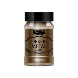 PENTART-FARBA METALICZNA DO MEBLI 100 ml CZEKOLADA