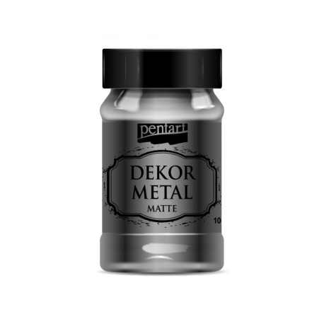 PENTART-FARBA METALICZNA DO MEBLI 100 ml ANTRACYT
