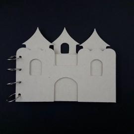 SCRAPBOOKING-KOŁONOTES 4 KARTY MDF 3mm ZAMEK 20x15cm