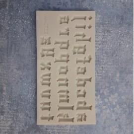 PENTART-FOREMKA SILIKONOWA ALFABET GOTYK 14,5x7,5cm
