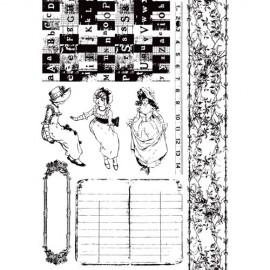 PRIMA-STEMPEL 18x15,5 8cz. ROMANTIQUE