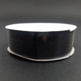 WSTĄŻKA DEKORACYJNA KORONKA czarna 2,5cm*9m