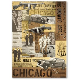 STAMPERIA-PAPIER 50x70 CHICAGO*