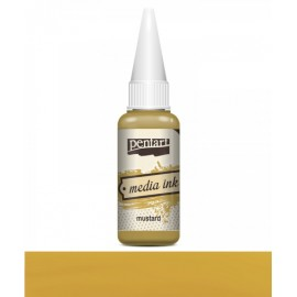 PENTART TUSZ MEDIA INK 20 ml MUSZTARDA
