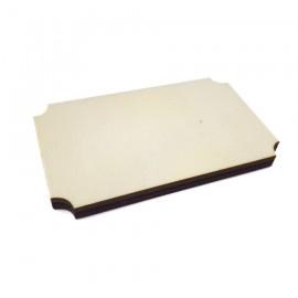 STAMPERIA-DREWNIANA DEKORACJA ETYKIETA PROSTOKĄTNA 8,7x5,3cm