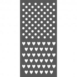 STAMPERIA-SZABLON 3D 12x25 cm KROPKI I SERDUSZKA