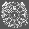 STAMPERIA-SZABLON 3D 18x18 cm ZEGAR