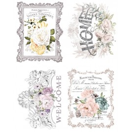 "PRIMA DECOR TRANSFERS 4x11x15"" FLORAL HOME (KOLOROWY)"