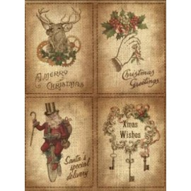 CALAMBOUR PAPIER RYŻOWY A4 STEAMPUNK BN 4 MOTYWY VINTAGE