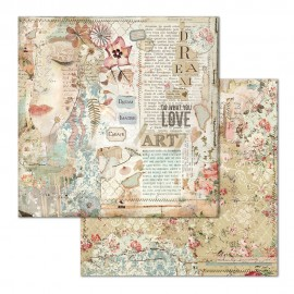 "STAMPERIA PAPIER DO SCRAP 12"" IMAGINE/TWARZ LOVE ART"