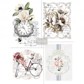"PRIMA DECOR TRANSFERS 22x30"" BIKE RIDERS 4cz (KOLOROWY)"