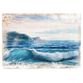 "PRIMA DECOR TRANSFERS 26x34"" BLUE WAVE (KOLOROWY)"