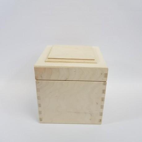 DREW PUDEŁKO z pokrywką 3D 15x15x15cm