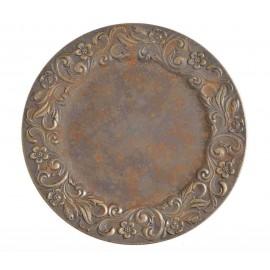 SZTUKA ZD TALERZ DEKORACYJNY 33cm rustykalny złoty