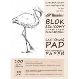 BLOK SZKICOWY A4 jasny papier 100k 90891