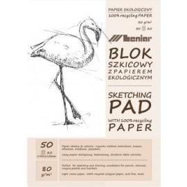 BLOK SZKICOWY A5 jasny papier 50k 90890