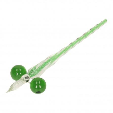 PIÓRO DO KALIGRAFII SZKLANE transparentne  zielone