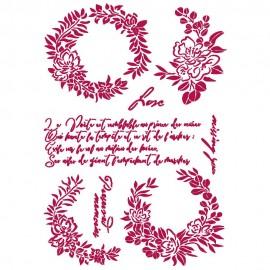 STAMPERIA SZABLON 21x29,7 cm JOURNAL GIRLANDY