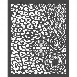 STAMPERIA SZABLON 3D 20x25 cm AMAZONIA CĘTKI I INNE