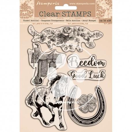 STAMPERIA STEMPEL AKRYLOWY 14x18 cm ROMANTIC HORSES