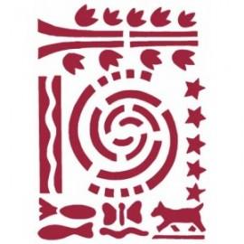 STAMPERIA-SZABLON 21x29,7 cm MEXICO KSG56