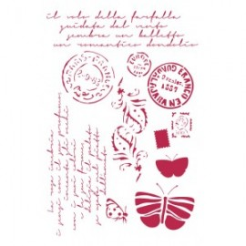 STAMPERIA SZABLON 21x29,7 cm POCZTÓWKI KSG289