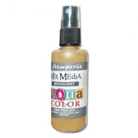 STAMPERIA-AQUACOLOR SPRAY 60ml PERŁOWY ZŁOTY