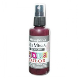 STAMPERIA-AQUACOLOR SPRAY 60ml METALICZNY BORDOWY