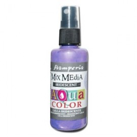 STAMPERIA-AQUACOLOR SPRAY 60ml METALICZNY LILA