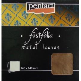 PENTART-FOLIA MIEDŹ 14x14cm 5 ARKUSZY